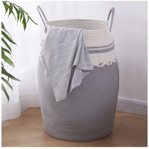 Woven Cotton Rope Large Clothes Hamper